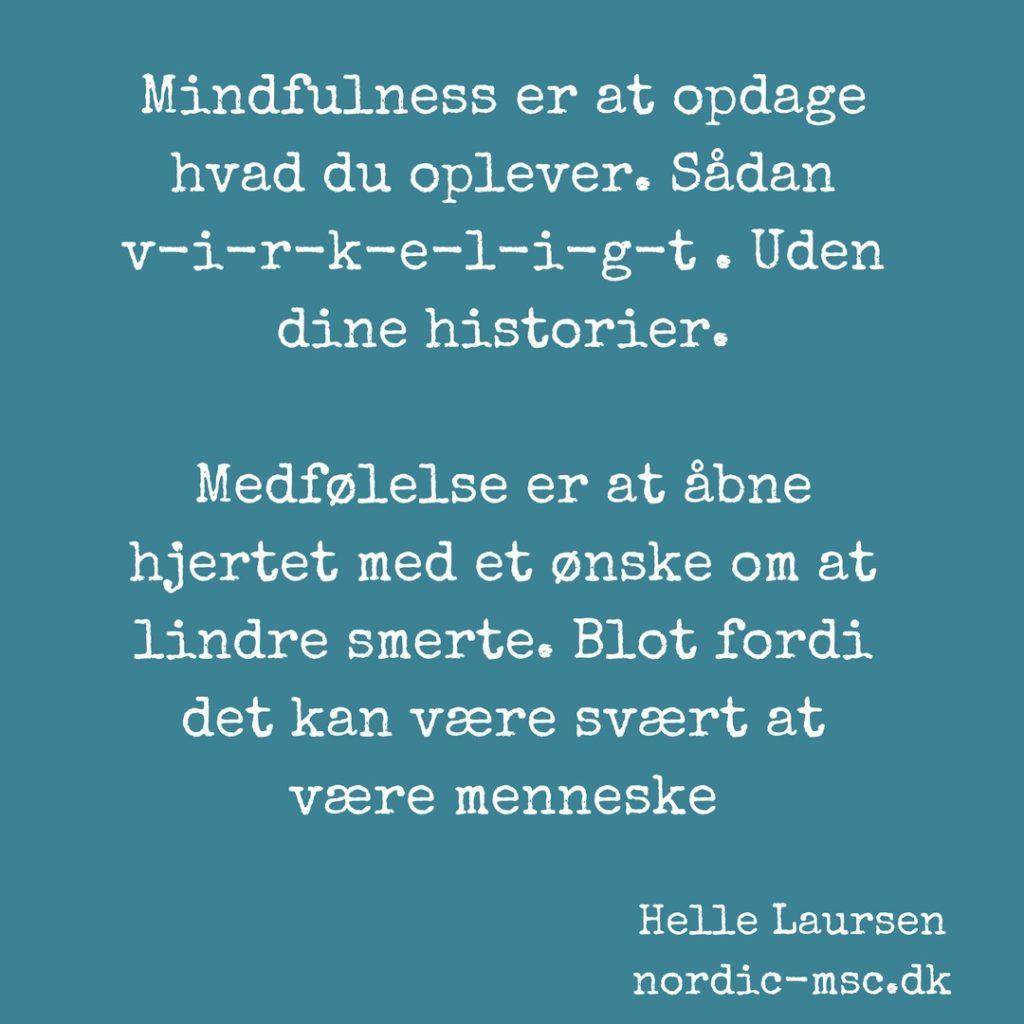 mindfulness og medfølelse
